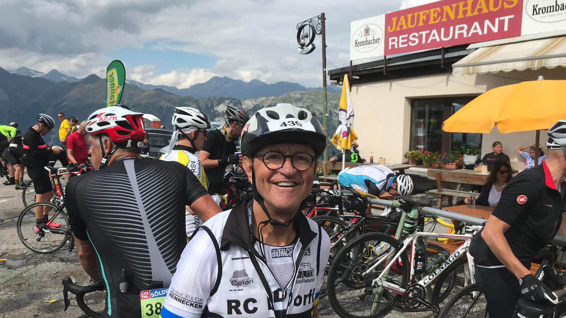Roland Fuchs am Jaufenpass, Oeztaler Radmarathon 2019