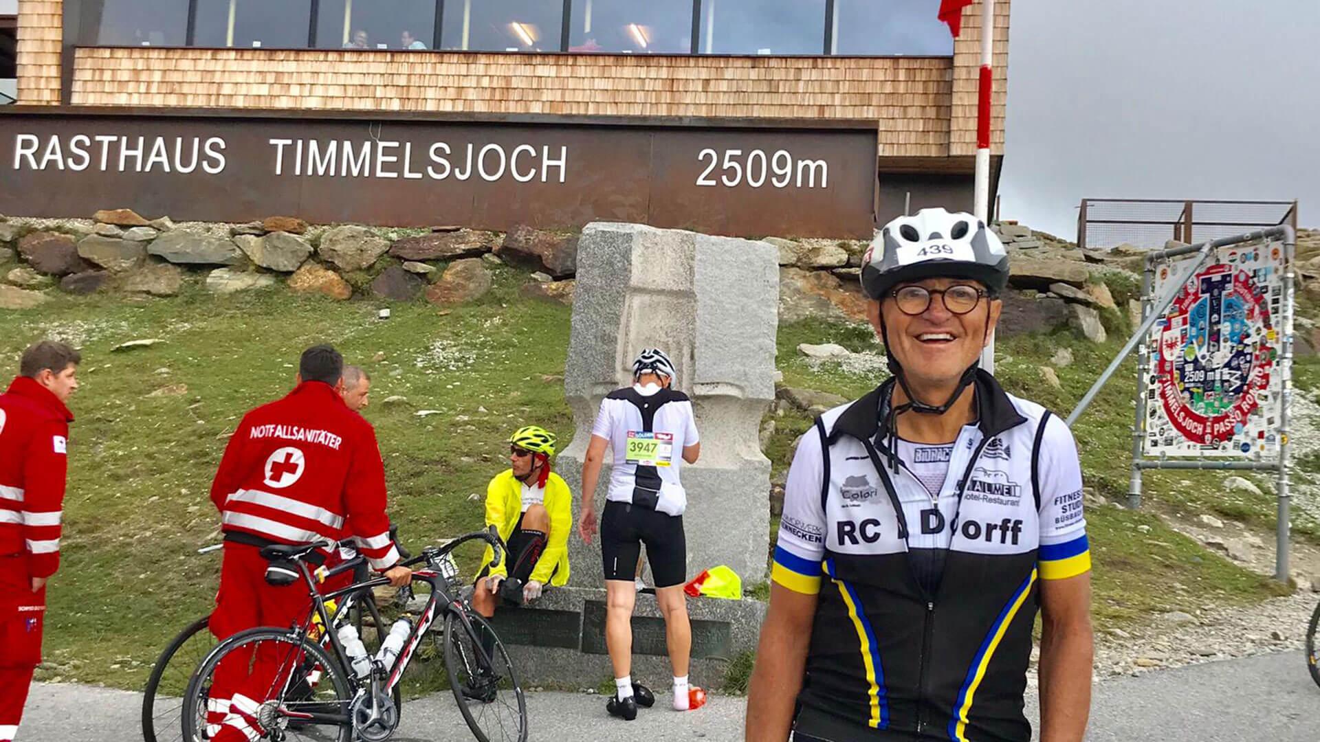 Roland Fuchs am Timmelsjoch, Oeztaler Radmarathon 2019