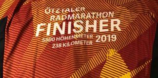 Finisher Trikot Öztaler Radmarathon 2019