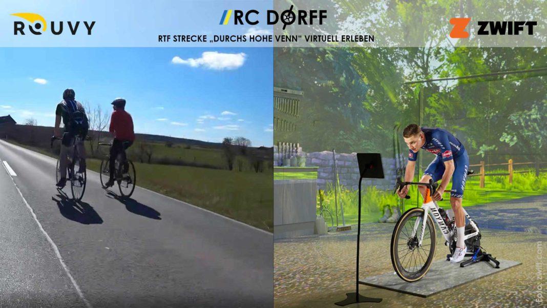 Virtuelle RTF mit Rouvy und ZWIFT